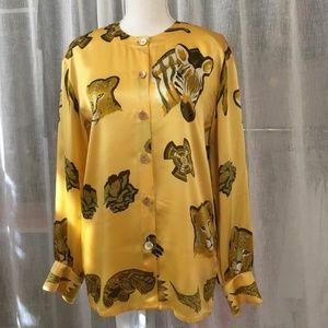 Escada Silk Safari Blouse, european Size 34